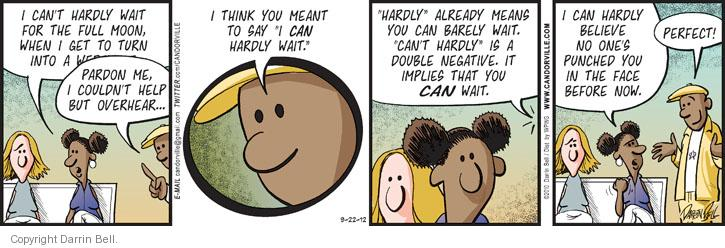 Comic Strip Darrin Bell  Candorville 2012-09-22 imply