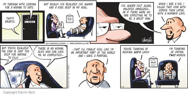 Comic Strip Darrin Bell  Candorville 2012-09-30 men's health