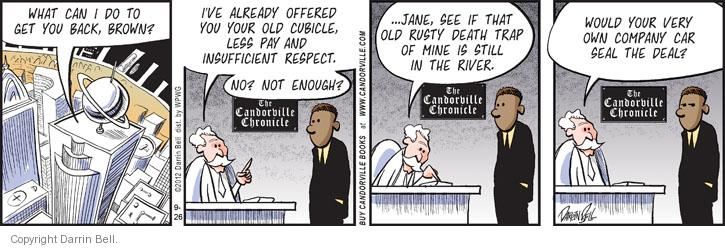 Comic Strip Darrin Bell  Candorville 2012-09-26 employment work