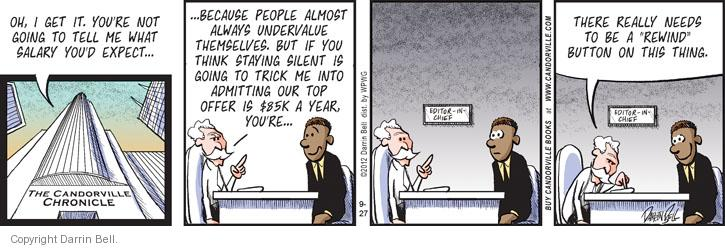Comic Strip Darrin Bell  Candorville 2012-09-27 chronicle