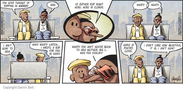 Comic Strip Darrin Bell  Candorville 2012-10-07 rap