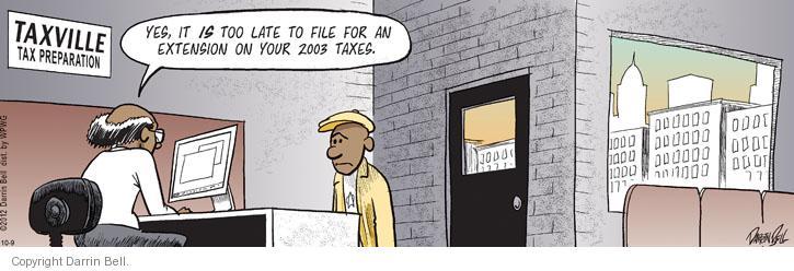 Comic Strip Darrin Bell  Candorville 2012-10-09 tax