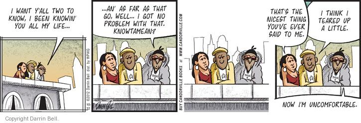 Comic Strip Darrin Bell  Candorville 2012-10-12 tear