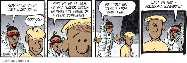 Cartoonist Darrin Bell  Candorville 2012-10-25 conscience
