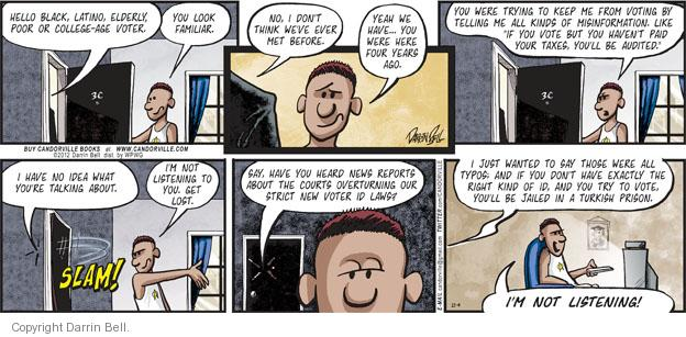 Comic Strip Darrin Bell  Candorville 2012-11-04 voter identification