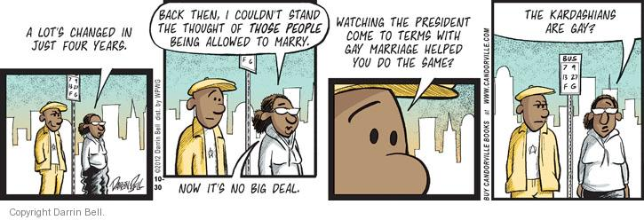 Comic Strip Darrin Bell  Candorville 2012-10-30 gay marriage