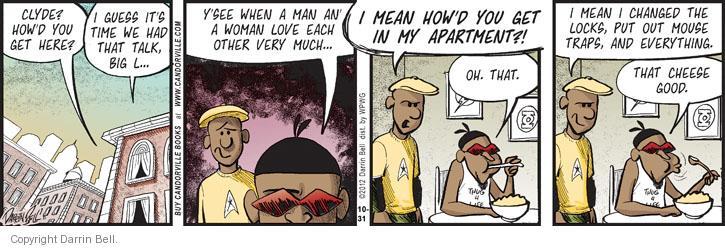 Comic Strip Darrin Bell  Candorville 2012-10-31 four man