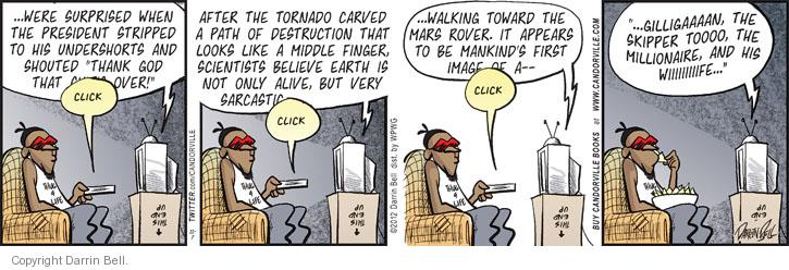 Comic Strip Darrin Bell  Candorville 2012-11-07 finger
