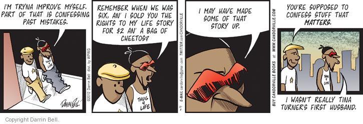 Comic Strip Darrin Bell  Candorville 2012-11-08 honesty