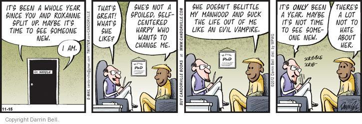 Cartoonist Darrin Bell  Candorville 2012-11-15 health