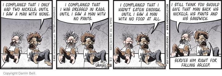 Comic Strip Darrin Bell  Candorville 2012-11-23 grateful