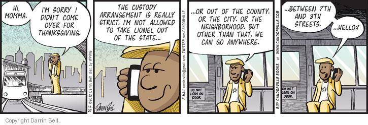 Comic Strip Darrin Bell  Candorville 2012-11-27 custody