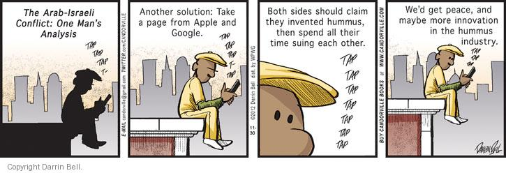 Comic Strip Darrin Bell  Candorville 2012-11-30 conflict