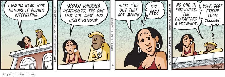 Cartoonist Darrin Bell  Candorville 2012-12-11 read