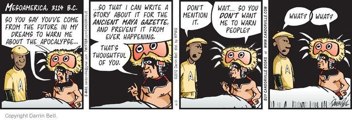 Comic Strip Darrin Bell  Candorville 2012-12-18 newspaper journalism