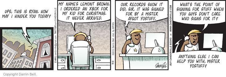 Comic Strip Darrin Bell  Candorville 2012-12-25 brown