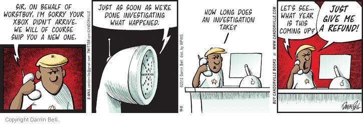 Comic Strip Darrin Bell  Candorville 2012-12-26 investigate