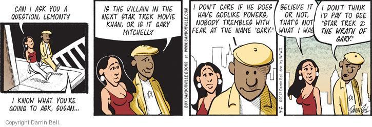 Comic Strip Darrin Bell  Candorville 2012-12-31 Gary