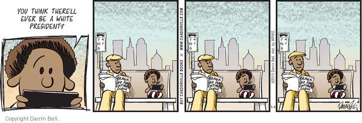 Cartoonist Darrin Bell  Candorville 2013-01-01 politics