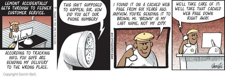 Comic Strip Darrin Bell  Candorville 2013-01-05 last name