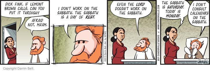 Comic Strip Darrin Bell  Candorville 2013-01-14 Jew