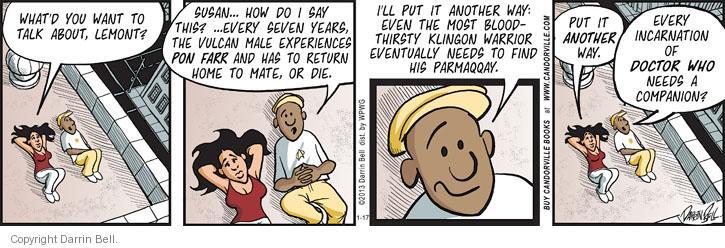Comic Strip Darrin Bell  Candorville 2013-01-17 science