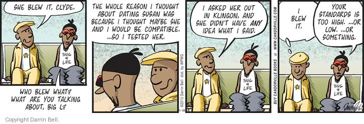 Comic Strip Darrin Bell  Candorville 2013-01-18 something