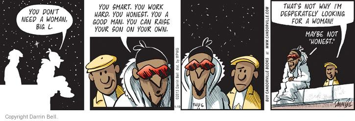 Cartoonist Darrin Bell  Candorville 2013-01-19 fathers and sons