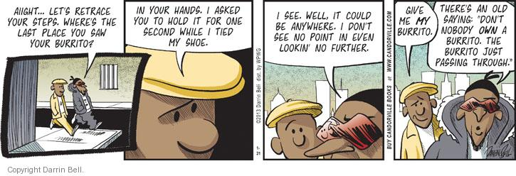 Comic Strip Darrin Bell  Candorville 2013-01-21 shoe