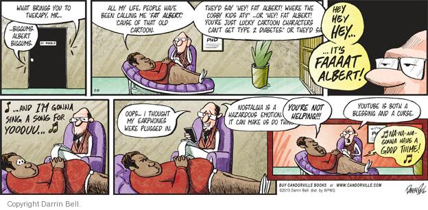 Comic Strip Darrin Bell  Candorville 2013-02-10 type