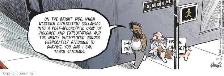 Comic Strip Darrin Bell  Candorville 2013-02-01 publishing