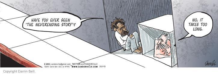 Comic Strip Darrin Bell  Candorville 2013-02-02 patience