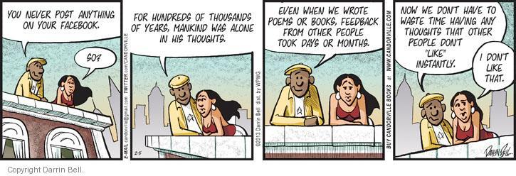 Comic Strip Darrin Bell  Candorville 2013-02-05 post