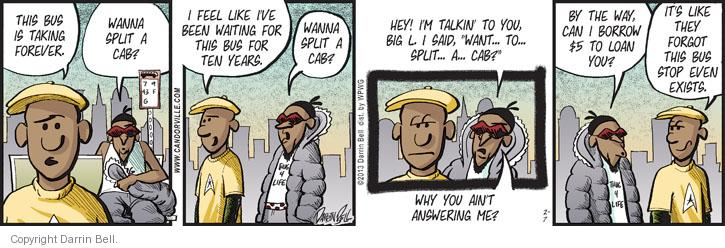 Comic Strip Darrin Bell  Candorville 2013-02-07 bus