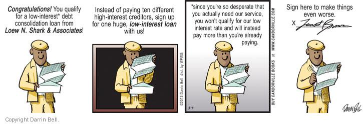 Comic Strip Darrin Bell  Candorville 2013-02-09 finance