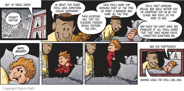 Comic Strip Darrin Bell  Candorville 2013-02-24 something