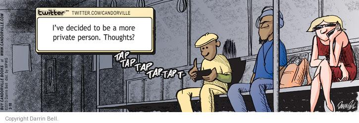 Comic Strip Darrin Bell  Candorville 2013-02-18 update