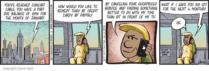 Comic Strip Darrin Bell  Candorville 2013-02-21 credit card