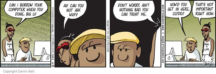 Comic Strip Darrin Bell  Candorville 2013-02-25 usage
