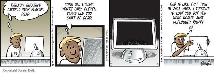 Comic Strip Darrin Bell  Candorville 2013-02-27 old age