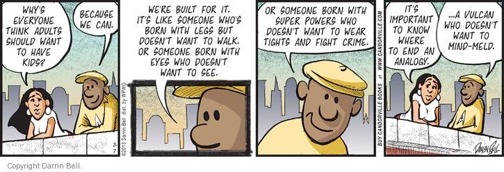 Comic Strip Darrin Bell  Candorville 2013-03-07 leg