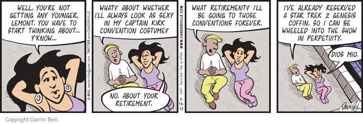 Comic Strip Darrin Bell  Candorville 2013-03-13 captain