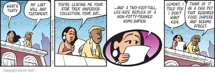 Comic Strip Darrin Bell  Candorville 2013-04-03 hat