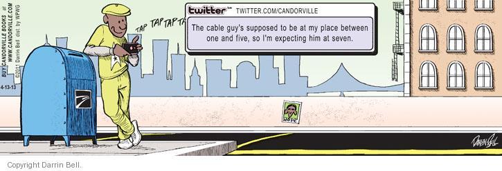Cartoonist Darrin Bell  Candorville 2013-04-13 delay