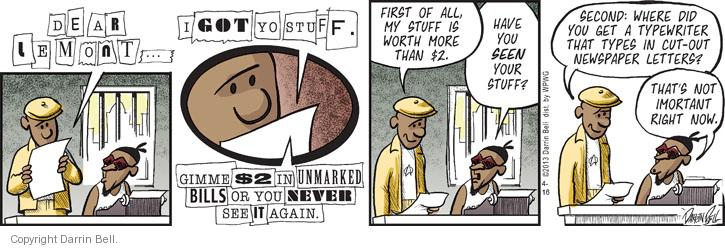 Comic Strip Darrin Bell  Candorville 2013-04-16 type