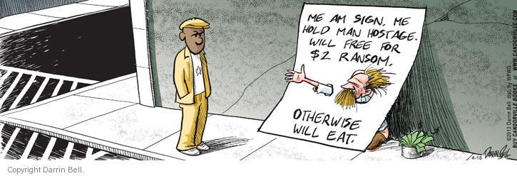 Comic Strip Darrin Bell  Candorville 2013-04-18 eat