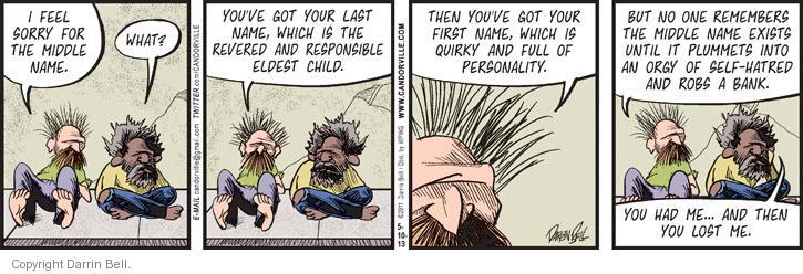 Cartoonist Darrin Bell  Candorville 2013-05-10 child