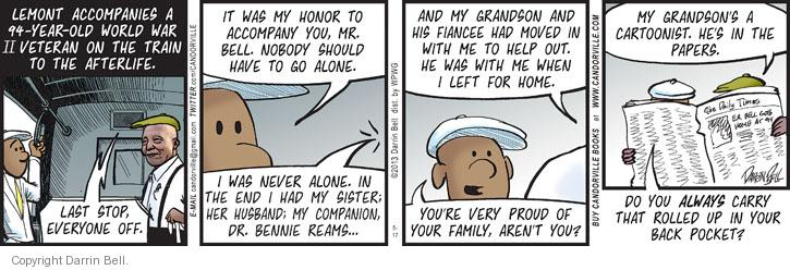 Comic Strip Darrin Bell  Candorville 2013-05-17 life or death