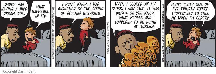 Cartoonist Darrin Bell  Candorville 2013-05-20 child