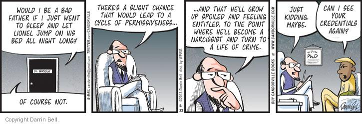 Comic Strip Darrin Bell  Candorville 2013-05-23 bad feeling